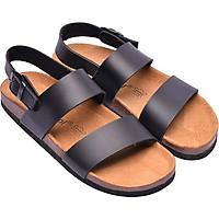 Giày Sandal Nữ 2 Quai Đen Đế Trấu HuuCuong 2150