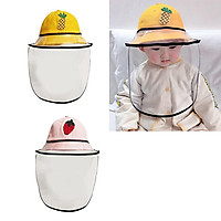 2pcs Baby Double Protection Hat With Face Cover Dustproof Anti-Spitting S