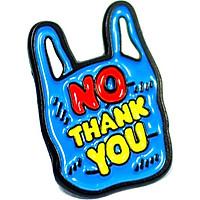 No plastic thank you - Pin sticker ghim cài áo