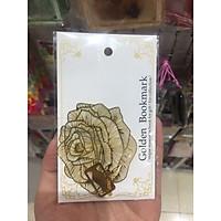 Bookmark kim loại mặt dây chuyền sáng tạo - Hoa hồng vàng
