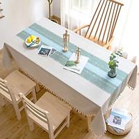 Khăn trải bàn KBCC17 MARYTEXCO chất liệu cotton thêu, đường may tinh xảo, viền tua rua sang trọng phù hợp với những không gian cao cấp, đem lại nét đẹp tinh tế cho căn phòng