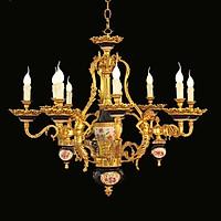 Đèn chùm đồng nguyên chất châu Âu 1801