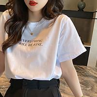 Áo phông nữ Áo thun nữ form rộng tay lỡ ETWBF freesize 68kg chất thun 4 chiều co giãn dễ thương