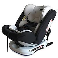 Ghế ô tô 2 chiều CHUẨN ISO 9001, điều chỉnh 4 tư thế từ nằm tới ngồi, xoay 360 độ, ngã 165 độ và có thể điều chỉnh độ cao 7 cấp cho bé từ 0-12 tuổi (đen)