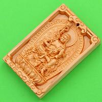 Mặt gỗ hoàng đàn Bất động minh vương MGPBM1 - Phật bản mệnh người tuổi Dậu