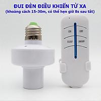 Bộ đui đèn điều khiển từ xa màu trắng, đui đèn E27 điều khiển từ xa