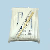Túi 100 đôi đũa tách gỗ mỡ kèm tăm bao giấy trắng