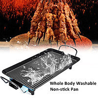 1500W Electric Griddles Household Electric Ovens Nonstick 5 Levels Barbecue Machine Electric Hotplate BBQ Tools Teppanyaki Grilled Meat Pan For 4-5 people