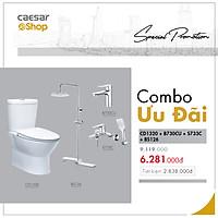Combo sản phẩm bàn cầu+vòi lavabo+sen tắm+bộ phụ kiện tắm đứng - CD1320+B730CU+S733C+BS126