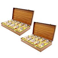 Yến Sào Song Việt - Combo 2 hộp gỗ thời thượng (loại 10 hũ / hộp)