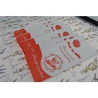 100 túi giấy đựng bánh mì họa tiết đỏ