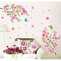 Decal dán tường phong cảnh hoa anh đào căng tràn sức sống