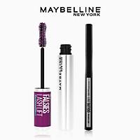 [Bộ trang điểm] Bút kẻ mắt nước Lâu Trôi 36H Line Tatoo High Impact Line + Mascara Uốn Mi, Nâng Mi Falsies Lash Lift Maybelline New York