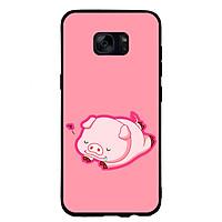 Ốp Lưng Viền TPU cho điện thoại Samsung Galaxy S6 - Pig 2019 Mẫu 3