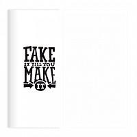 Sổ tay planner Bìa fake it do it Chấm bi to  kích thước 21x11 60 trang