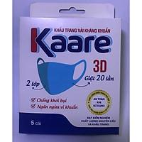 Hộp 5 cái khấu trang vải kháng khuẩn Kaare cao cấp , tái sử dụng 20 lần