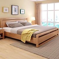 Giường ngủ gỗ sồi Mỹ Paril, phong cách Châu Âu
