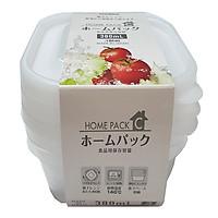 Set 3 hộp đựng thực phẩm  380ml dùng được trong lò vi sóng