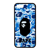Ốp lưng dành cho Iphone 5s B.A.P.E Xanh Chữ - Hàng Chính Hãng