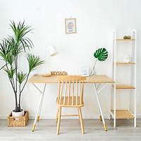 Bàn Làm Việc Bàn Học Gỗ Chân Sắt Simple Table Nội Thất Lắp Ráp Kiểu Hàn BEYOURs