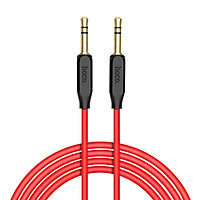 Cáp âm thanh Hoco AUX cho kết nối âm thanh ổn định, dây dài 1m, Jack 3.5mm, chất liệu vỏ dây TPE cao cấp - Hàng chính hãng