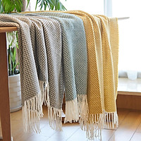 Chăn ghế sofa 130x200cm thiết kế ấm áp xanh/ vàng/ xám chọn lựa