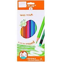 Bút chì màu gỗ We Fish Yplus 24 màu tẩy được TC1802