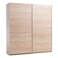 Tủ quần áo JYSK Sattrup cánh trượt gỗ công nghiệp màu sồi 150x218x62cm