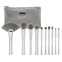 Bộ 10 Cọ Trang Điểm BH Cosmetics Smoken Mirrors 10 Piece Metalized Brush Set With Bag