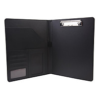 A4 Multi-Functional File Folder PU Leather Business Padfolio Paper Document Storage Organizer for A4/A5 Document