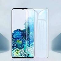 Bộ 2 miếng dán màn hình kính cường lực Full 3D chống tia UV cho Samsung Galaxy S20 Ultra hiệu Baseus (Mỏng 0.25mm, độ trong HD, cảm ứng vân tay cực nhạy, chống va đập và bảo vệ màn hình) - Hàng nhập khẩu