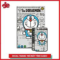DECAL TRANG TRÍ MÁY TÍNH CASIO / VINACAL NHÂN VẬT PHIM HOẠT HÌNH DOREMON 037