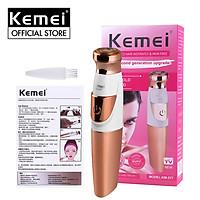 Máy cạo lông Kemei KM-577 chuyên dùng cạo lông toàn thân, lông mặt, lông tay chân, vùng bikini sử dụng pin AA tiện lợi