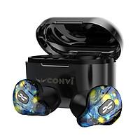 Tai nghe Bluetooth True Wireless CONVI BT40 - Kháng nước IPX5, HD Mic, Độ trễ thấp (120ms), Âm thanh đỉnh, Màu sắc trẻ trung, Phù hợp cho ĐT Apple / Samsung / Oppo / Vivo / Vsmart - Hàng Chính Hãng