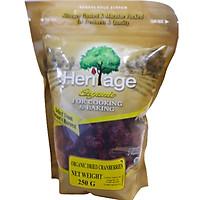 Quả Nam Việt Quất  Sấy Khô Hữu Cơ Heritage Nguyên Liệu Mỹ gói 250g  - Organic Dried Cranberries