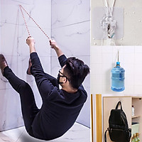 6PCs Strong Transparent Suction Cup Sucker Wall Hooks Hanger for Kitchen  Holder Accessories Wall Storage Hangers