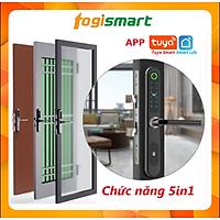 Khóa cửa vân tay Nhôm Kính, chức năng 5in1: App, vân tay, thẻ từ, mật khẩu, chìa cơ Togismart N01 - HÀNG CHÍNH HÃNG