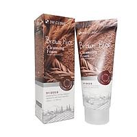 Combo Sữa Rửa Mặt Chiết Xuất Từ Gạo 3W Clinic Brown Rice Foam Cleansing và Bộ 10 gói mặt nạ dưỡng da 3W Clinic Fresh Red Ginseng Mask Sheet