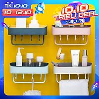 Kệ Nhà Tắm/Kệ Nhà Bếp Nhựa Cao Cấp Có Móc MOHI MK9 - Chính hãng (Giao màu ngẫu nhiên)
