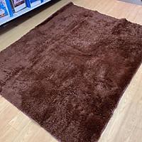 Thảm lông trải sàn 1m6x2m - màu nâu