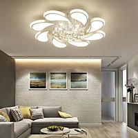 Đèn ốp trần hoa lan pha lê trang trí nội thất