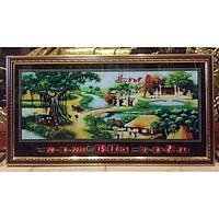 Đồng hồ lịch vạn niên tranh Quê Hương - MS442