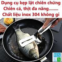 Dụng cụ kẹp và lật thịt , kẹp cá chiên, xẻng chiên trứng, kẹp thực phẩm nóng đa năng inox 304 cao cấp siêu bền