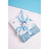 Set 2 khăn xô sợi tre lụa đa năng Lovingbaby - size XXL và XL - Siêu thấm hút, Mềm mịn, An toàn cho da bé - kích thước 120x120cm và 77x77cm