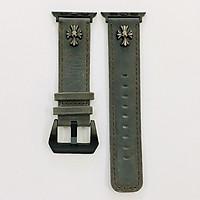 Dây đeo cho Apple Watch hiệu CAMYSE Leather Vintage Buttoning 1 - hàng nhập khẩu