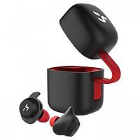 Tai nghe không dây Havit G1 TWS  gồm sạc không dây, chống nước IPX5, Bluetooth 5.0 (Màu đỏ đen) - Hàng chính hãng