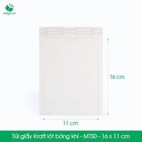 MTS0 - 16x11 cm - 25 Túi giấy Kraft bọc xốp hơi thay hộp carton