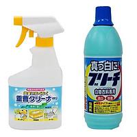 Combo chai xịt baking soda 400ml Rocket + nước tẩy quần áo 600ml Rocket nội địa Nhật Bản