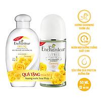Lăn khử mùi trắng da Enchanteur Charming 50ml - Tặng sữa tắm Charming 60g SMP 2021