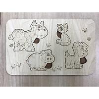 Bảng gỗ tô màu cho bé theo chủ đề ( 6 loại )
